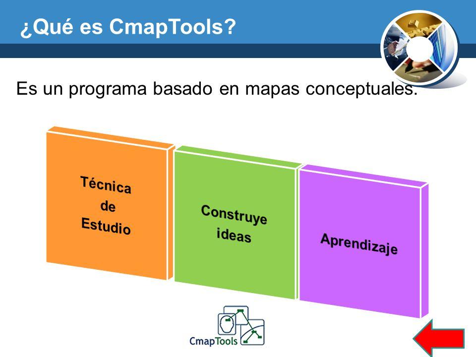 ¿Qué es CmapTools Es un programa basado en mapas conceptuales.