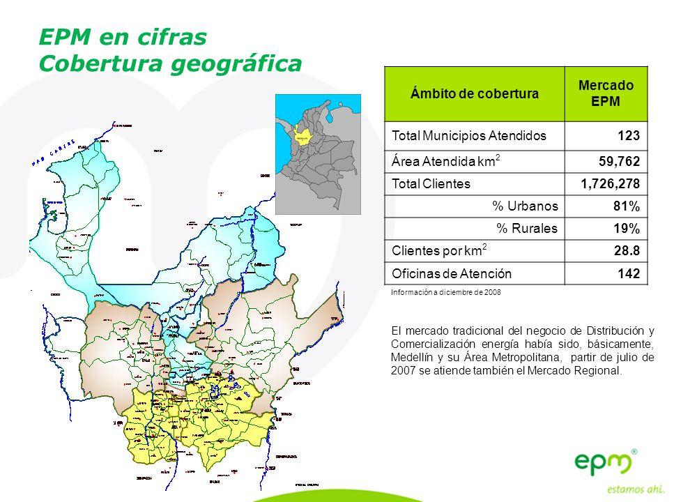 EPM en cifras Cobertura geográfica