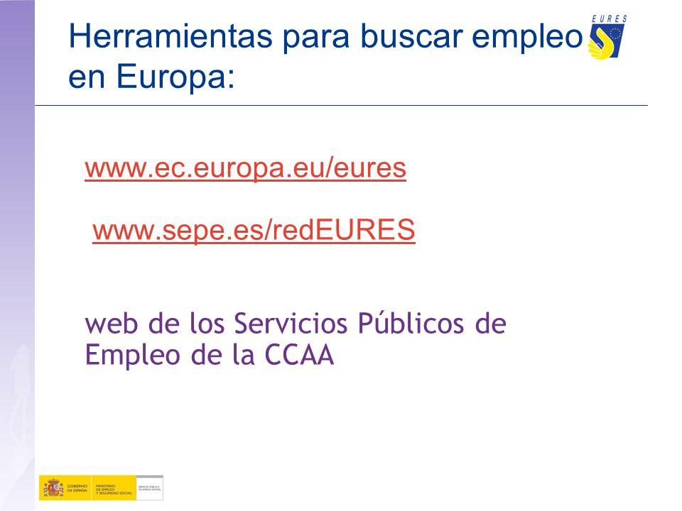 Herramientas para buscar empleo en Europa: