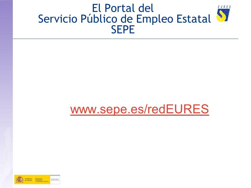 El Portal del Servicio Público de Empleo Estatal SEPE