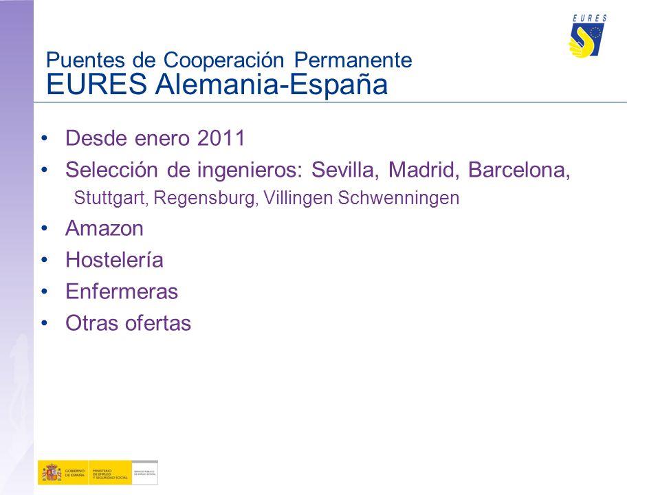 Puentes de Cooperación Permanente EURES Alemania-España