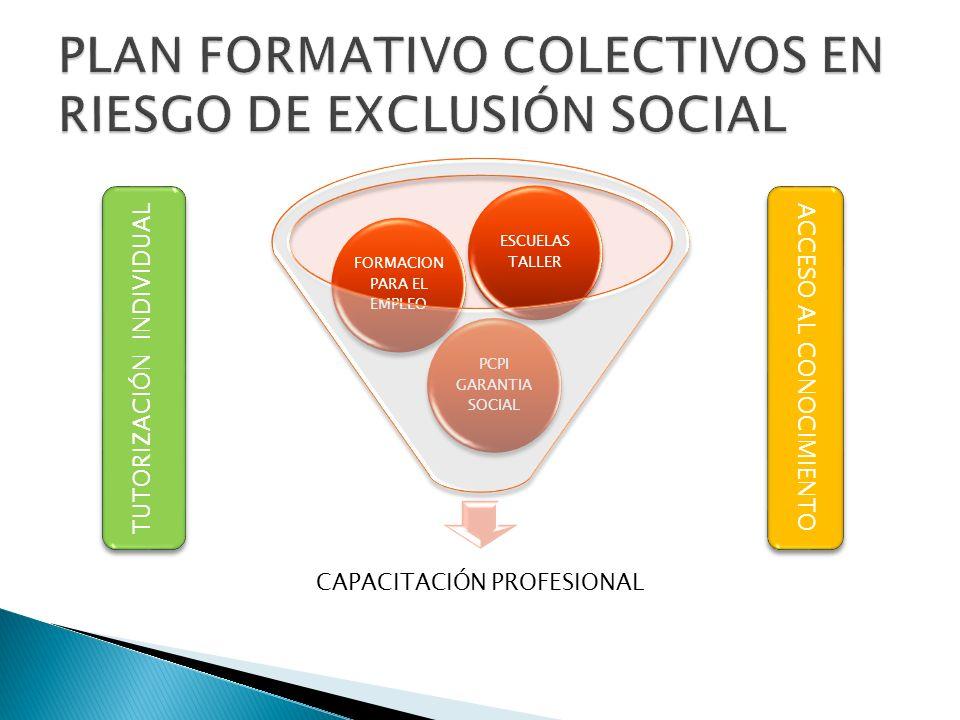 PLAN FORMATIVO COLECTIVOS EN RIESGO DE EXCLUSIÓN SOCIAL