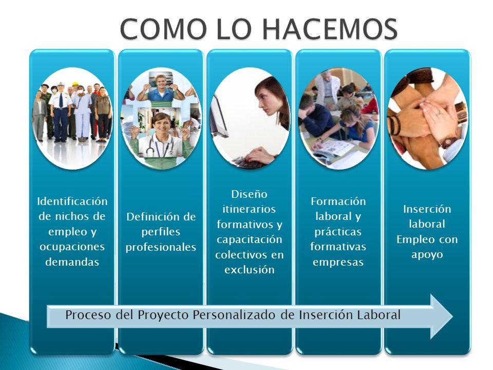 COMO LO HACEMOS Identificación de nichos de empleo y ocupaciones demandas. Definición de perfiles profesionales.