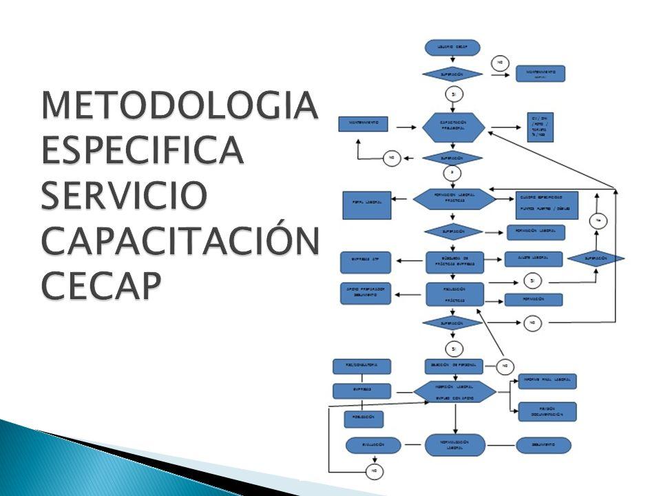 METODOLOGIA ESPECIFICA SERVICIO CAPACITACIÓN CECAP