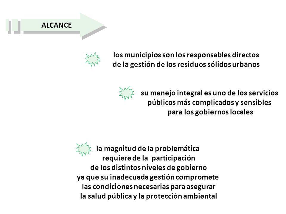 los municipios son los responsables directos