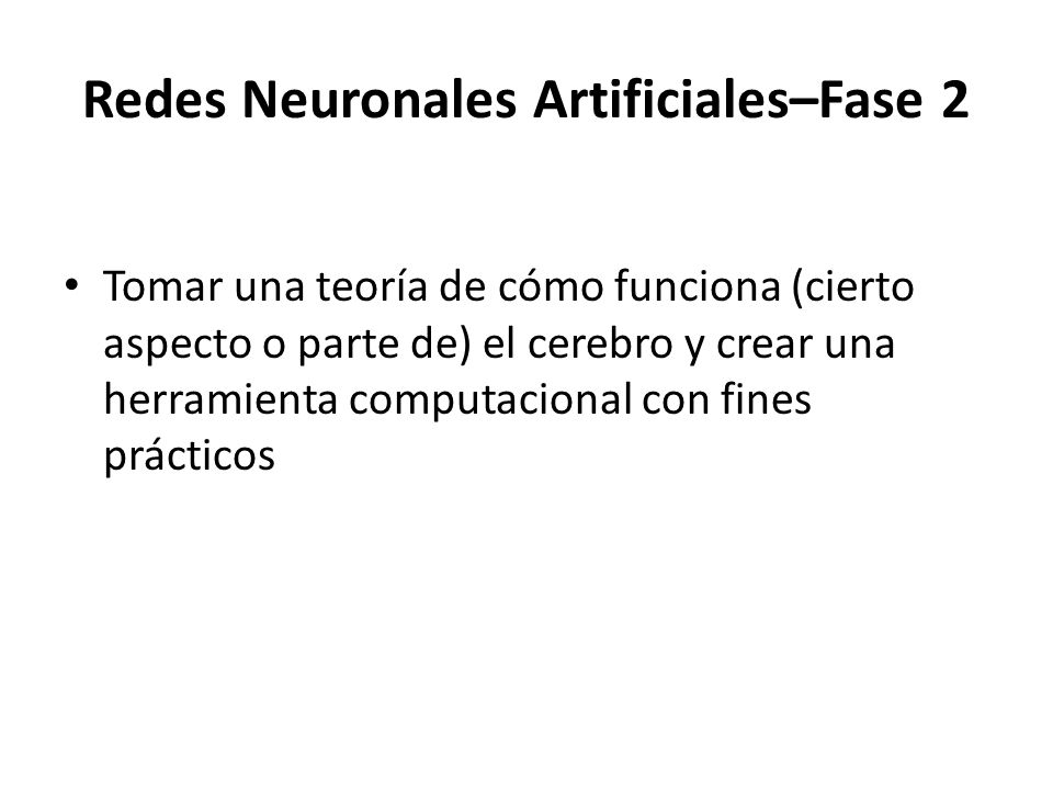 Redes Neuronales Artificiales–Fase 2