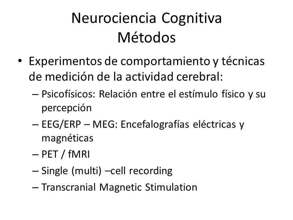 Neurociencia Cognitiva Métodos