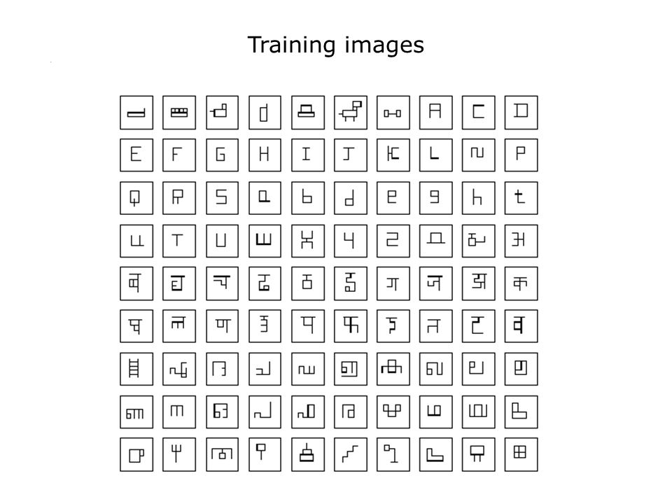 Training images