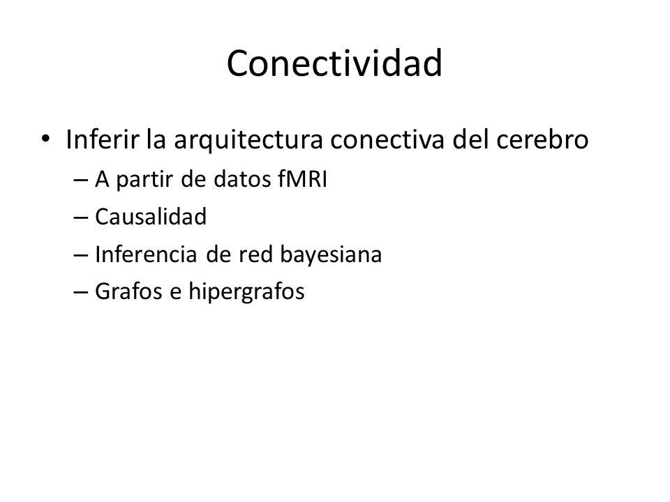 Conectividad Inferir la arquitectura conectiva del cerebro