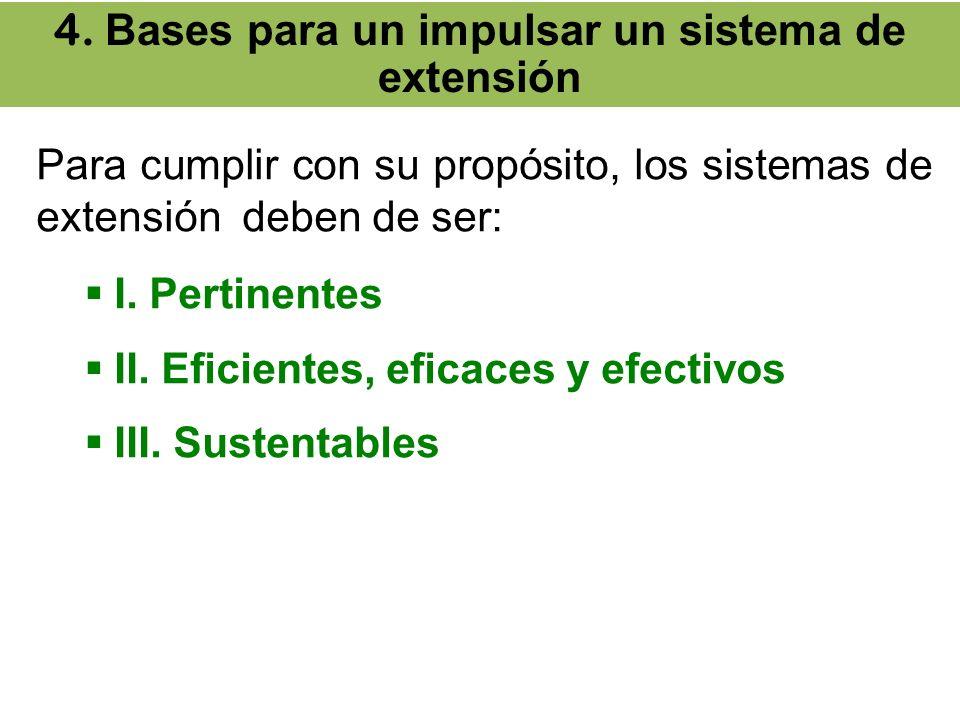 4. Bases para un impulsar un sistema de extensión
