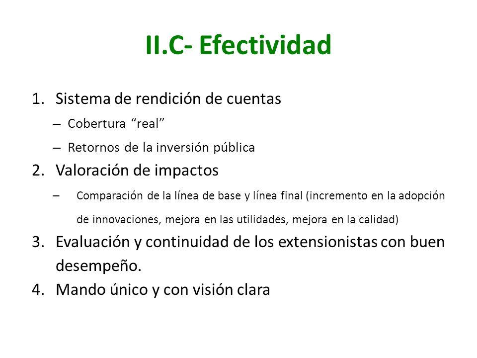 II.C- Efectividad Sistema de rendición de cuentas