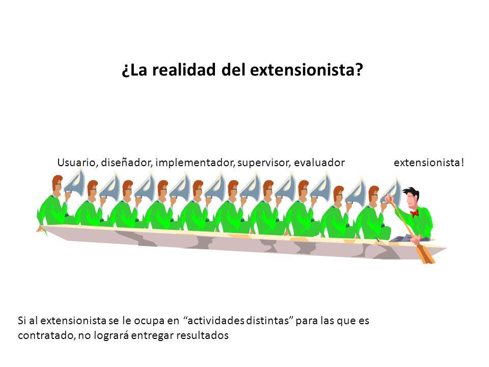 ¿La realidad del extensionista