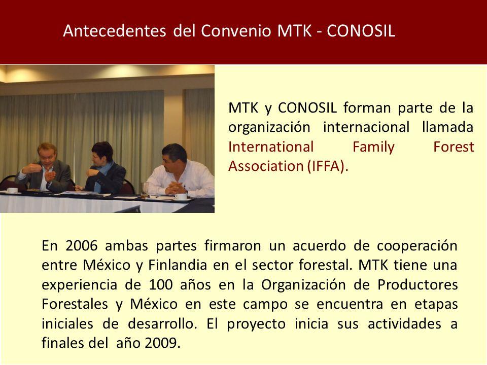 Antecedentes del Convenio MTK - CONOSIL