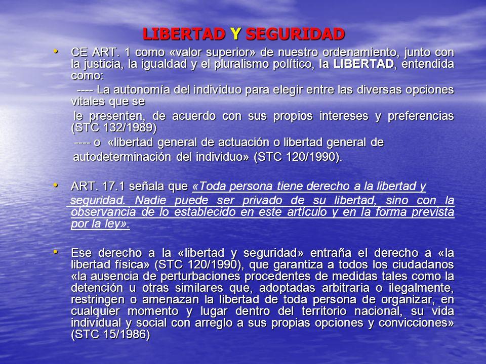 LIBERTAD Y SEGURIDAD