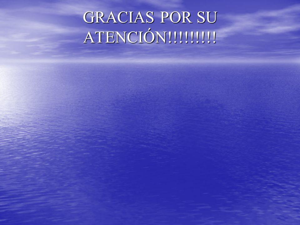 GRACIAS POR SU ATENCIÓN!!!!!!!!!