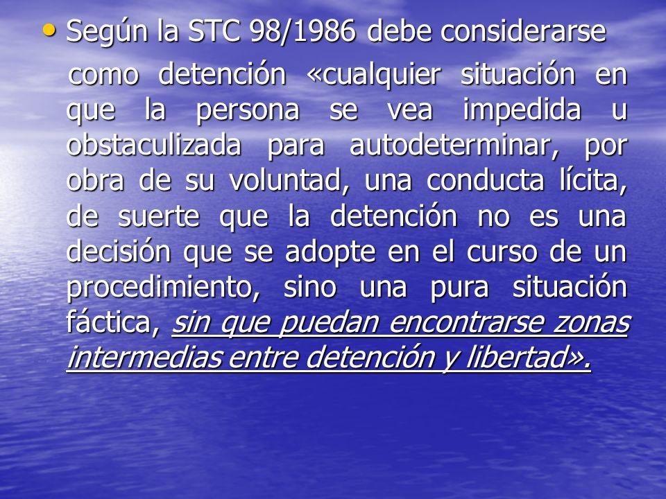 Según la STC 98/1986 debe considerarse