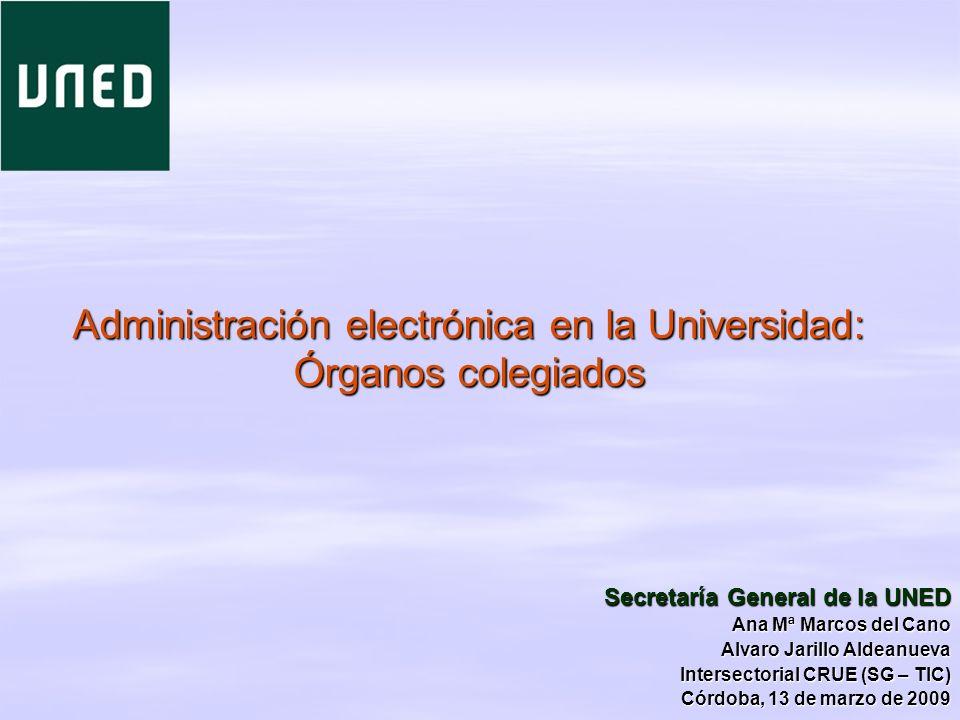 Administración electrónica en la Universidad: Órganos colegiados