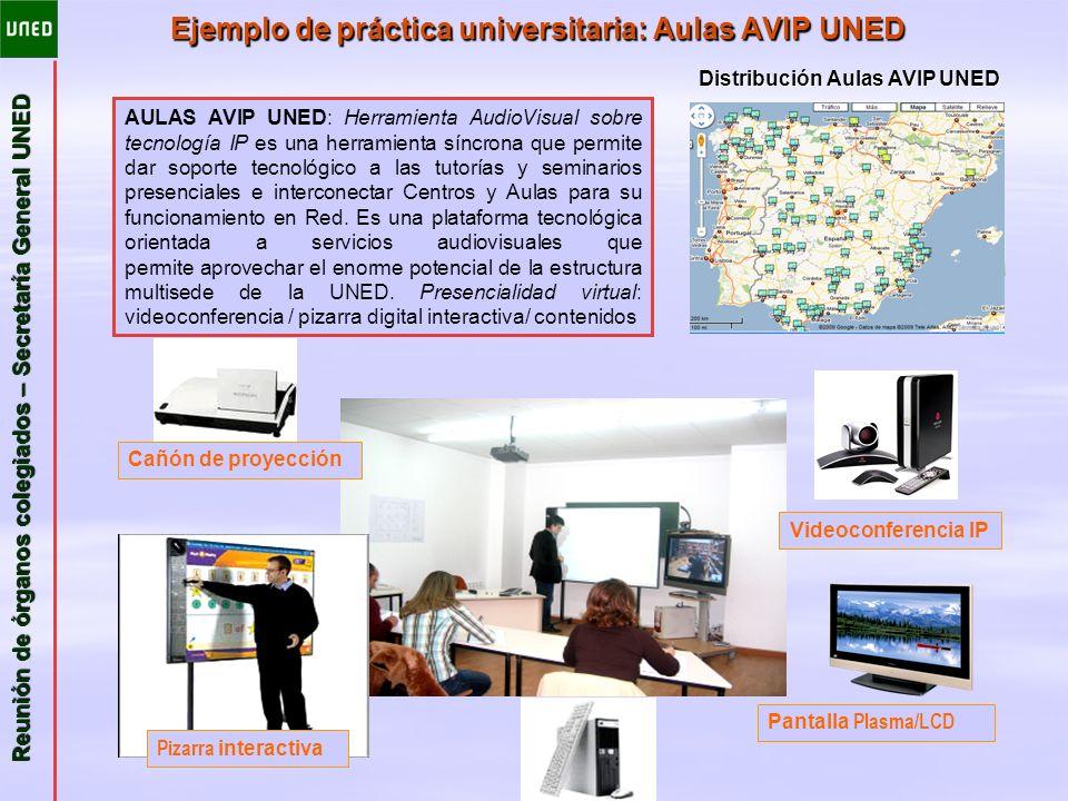 Ejemplo de práctica universitaria: Aulas AVIP UNED