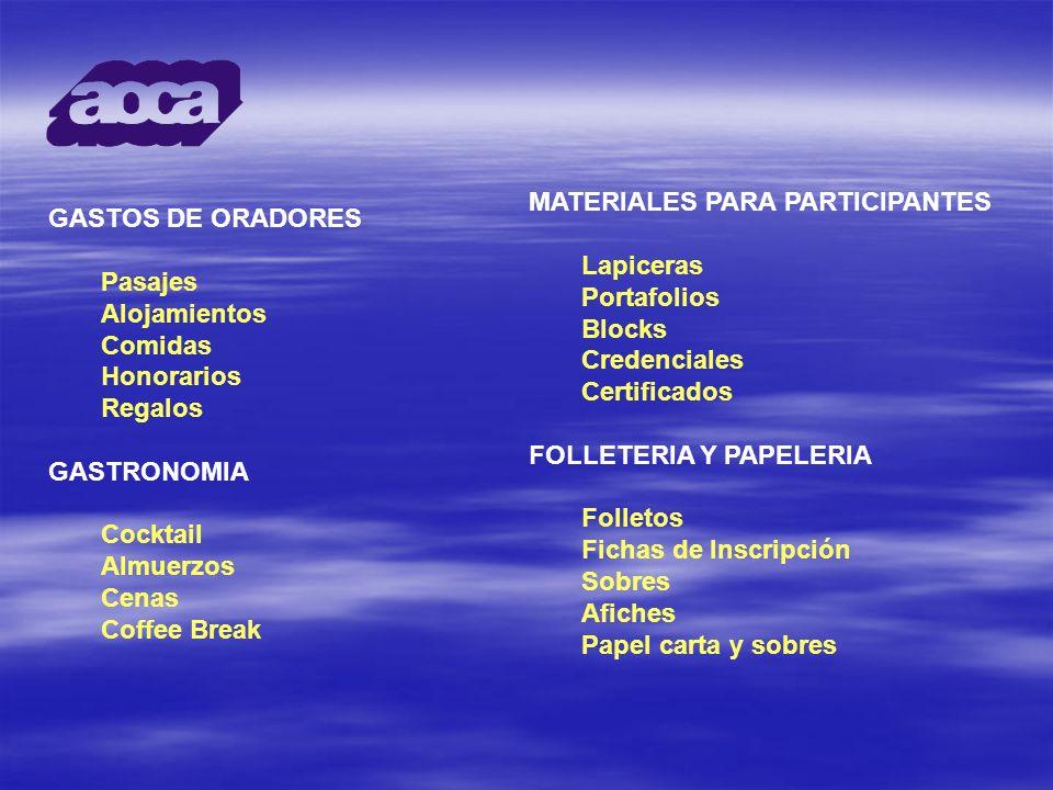 MATERIALES PARA PARTICIPANTES