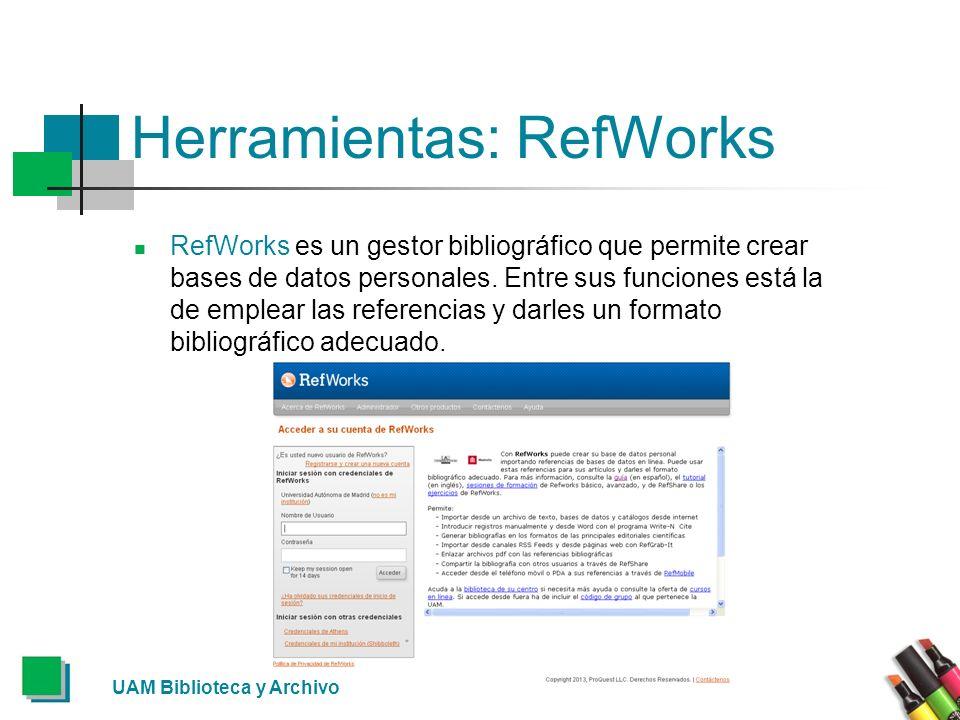 Herramientas: RefWorks