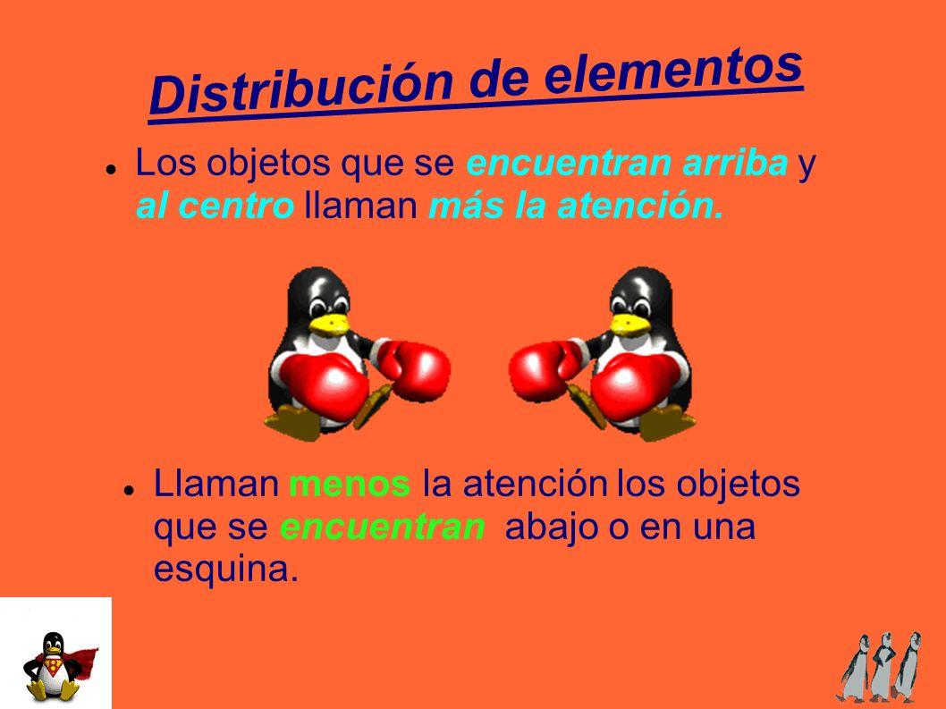 Distribución de elementos