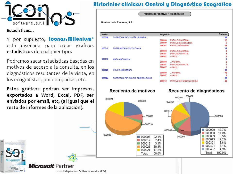 Estadísticas… Y por supuesto, Iconos.Milenium® está diseñada para crear gráficos estadísticos de cualquier tipo.