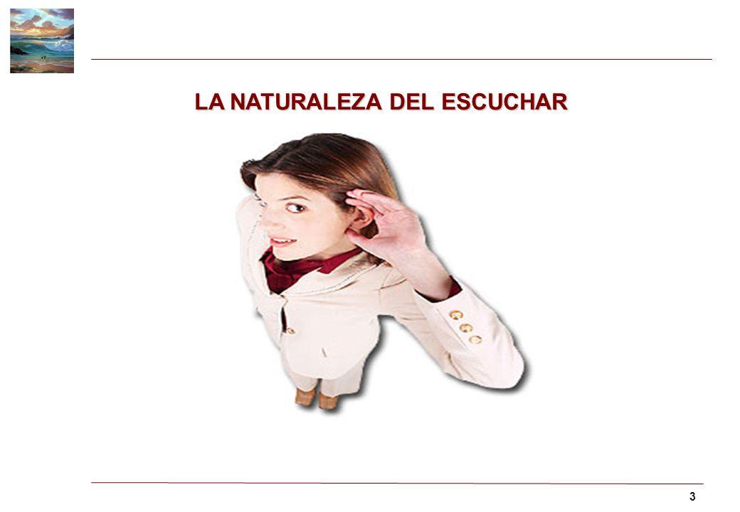 LA NATURALEZA DEL ESCUCHAR