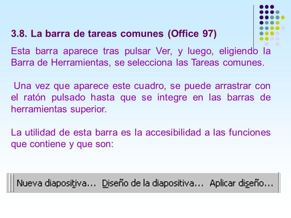 3.8. La barra de tareas comunes (Office 97)