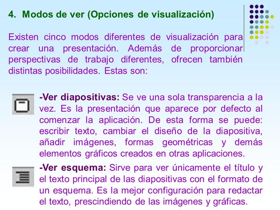 Modos de ver (Opciones de visualización)