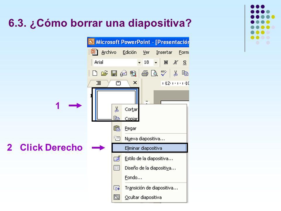 6.3. ¿Cómo borrar una diapositiva