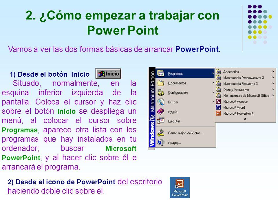 2. ¿Cómo empezar a trabajar con Power Point