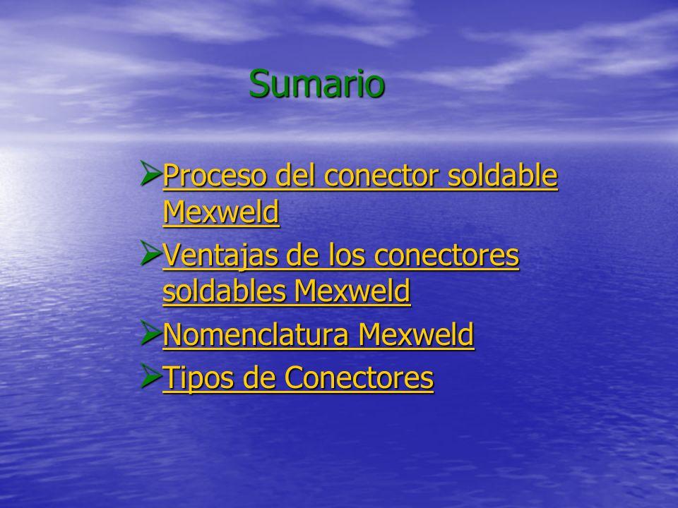 Sumario Proceso del conector soldable Mexweld