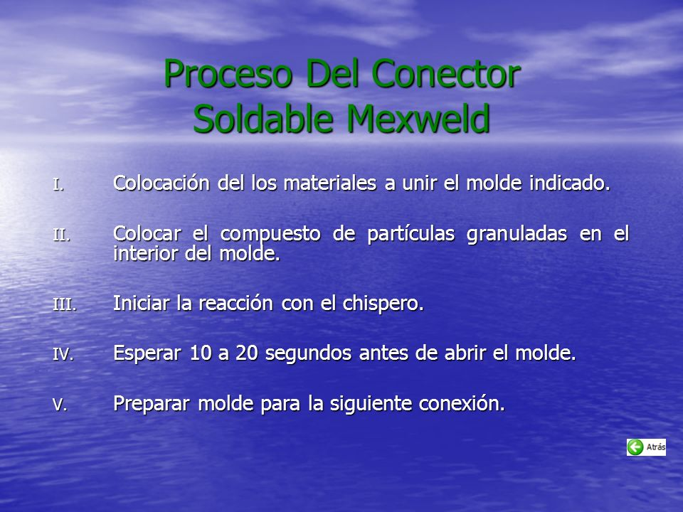 Proceso Del Conector Soldable Mexweld
