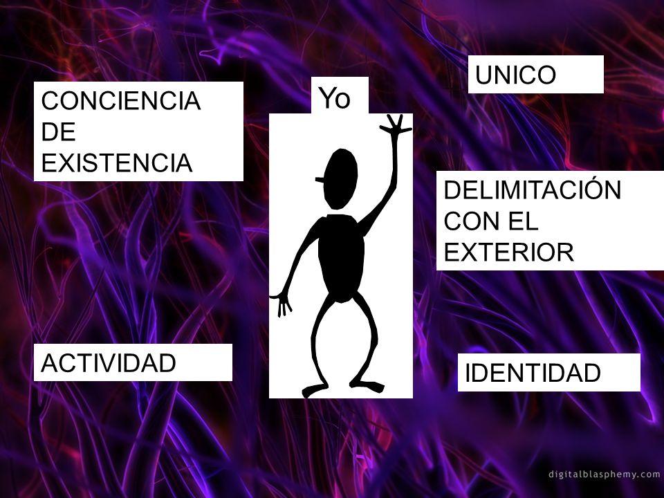 Yo UNICO CONCIENCIA DE EXISTENCIA DELIMITACIÓN CON EL EXTERIOR