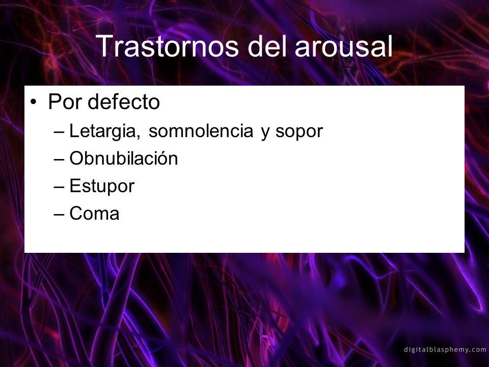 Trastornos del arousal