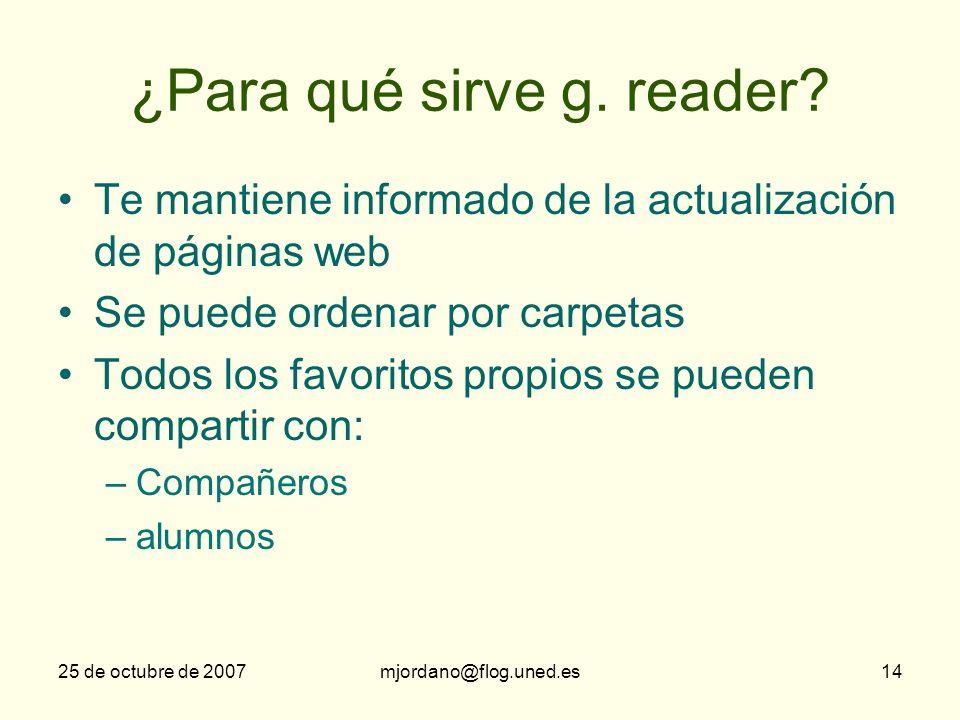 ¿Para qué sirve g. reader
