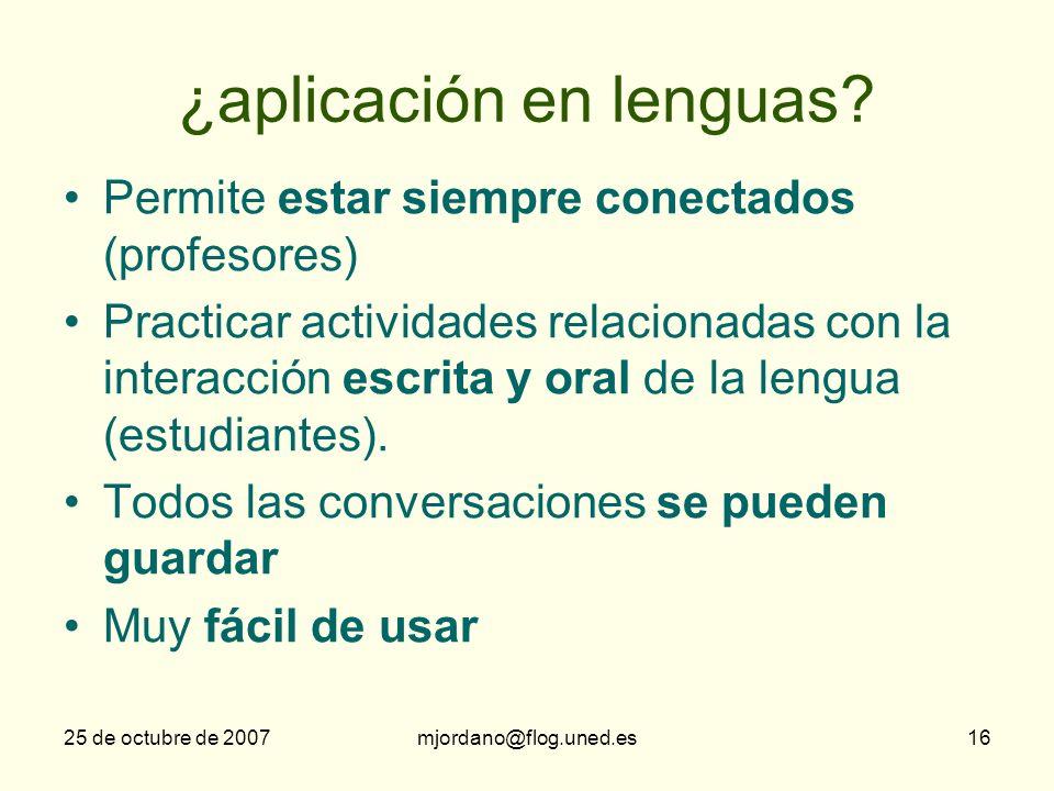 ¿aplicación en lenguas