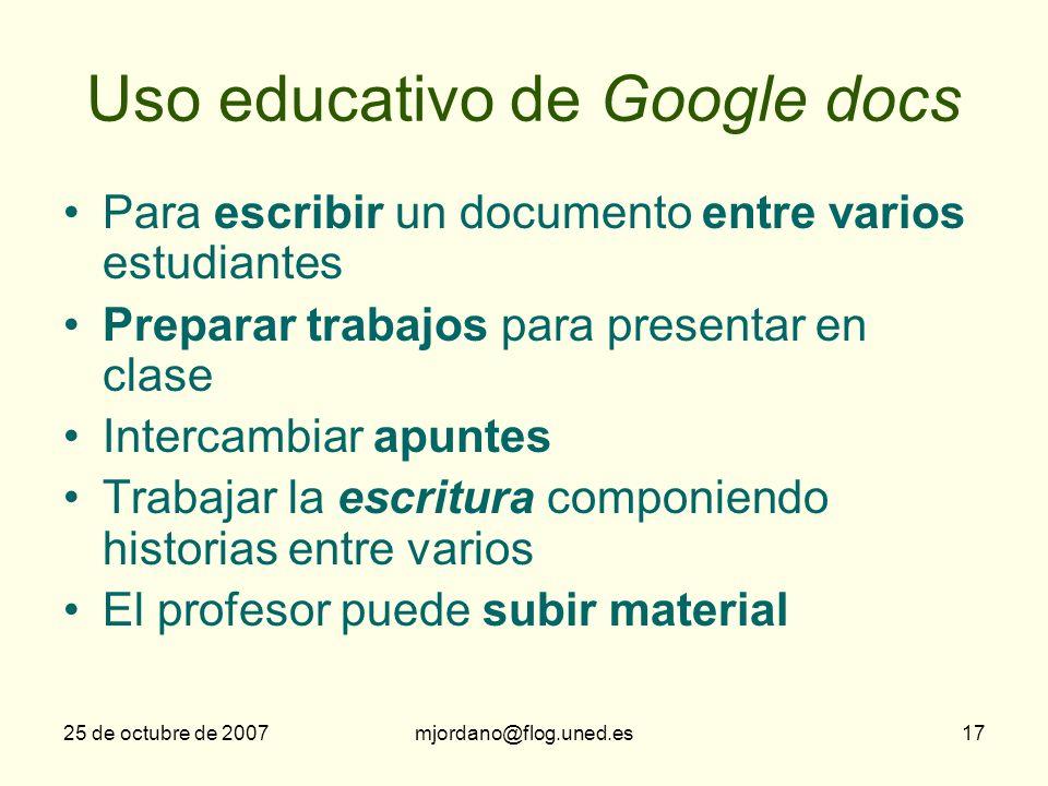 Uso educativo de Google docs