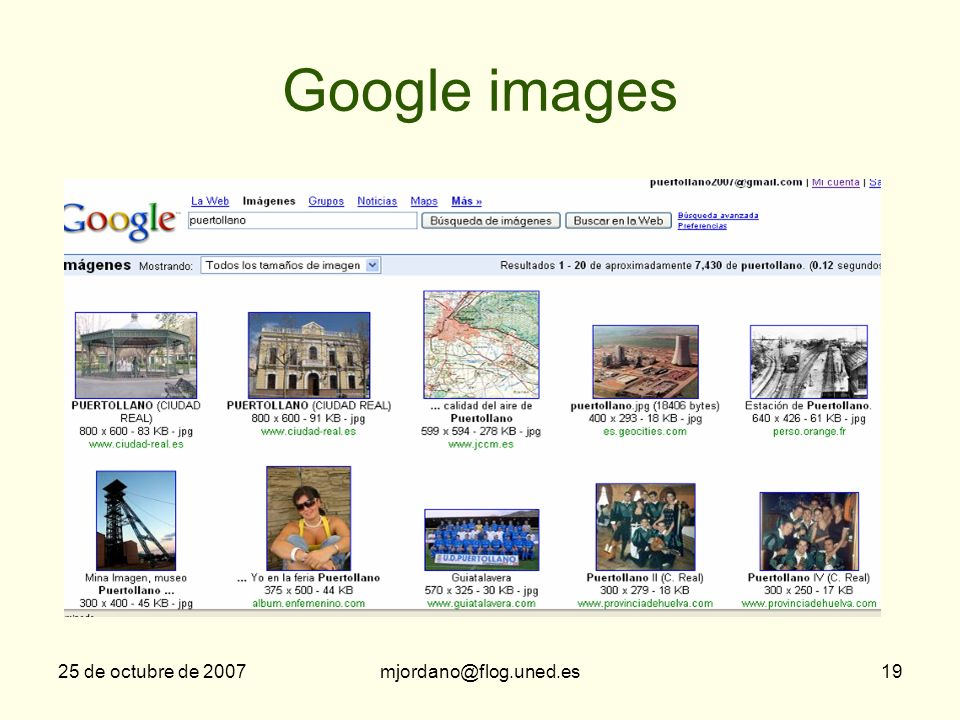 Google images 25 de octubre de 2007 mjordano@flog.uned.es