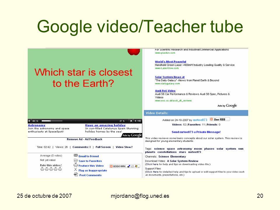 Google video/Teacher tube