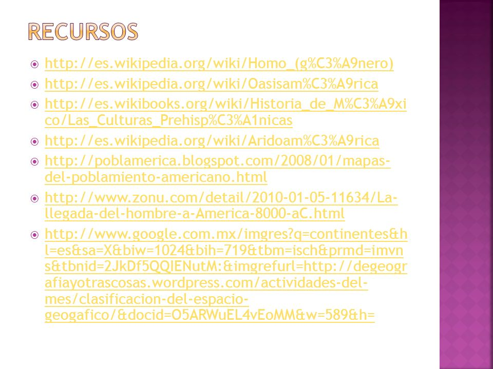Recursos http://es.wikipedia.org/wiki/Homo_(g%C3%A9nero)
