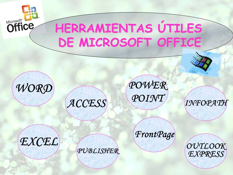 WORD EXCEL HERRAMIENTAS ÚTILES DE MICROSOFT OFFICE ACCESS POWER POINT