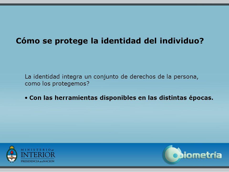 Cómo se protege la identidad del individuo