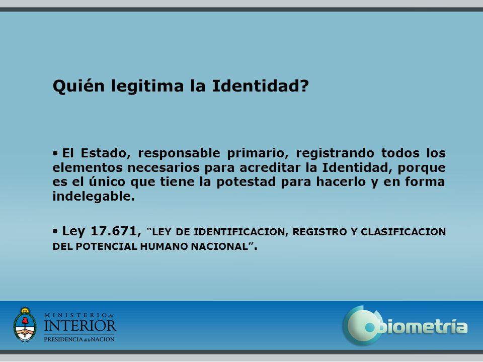 Quién legitima la Identidad
