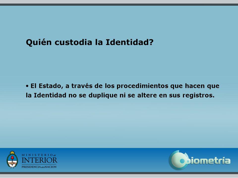 Quién custodia la Identidad