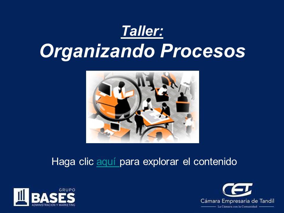 Taller: Organizando Procesos