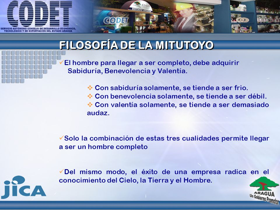 FILOSOFÍA DE LA MITUTOYO