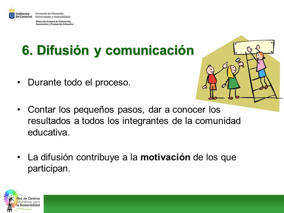 6. Difusión y comunicación