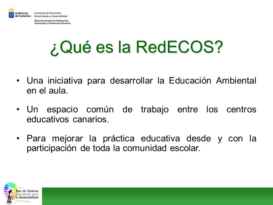 ¿Qué es la RedECOS Una iniciativa para desarrollar la Educación Ambiental en el aula.