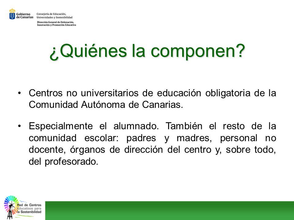 ¿Quiénes la componen Centros no universitarios de educación obligatoria de la Comunidad Autónoma de Canarias.